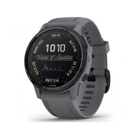 fēnix 6S Pro Solar Amethyst Steel with Shale Gray Band 010-02409-25